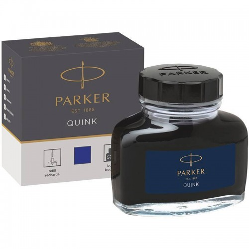 Темно-синие чернила во флаконе Parker (Паркер) Quink Bottle Blue/Black Ink