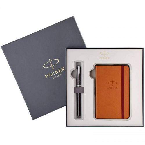 Набор с блокнотом и перьевая ручка Parker (Паркер) Urban Premium Ebony Metal CT M