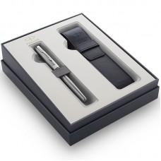 Подарочный набор Parker (Паркер) Sonnet Stainless Steel CT из перьевой ручки и чехла
