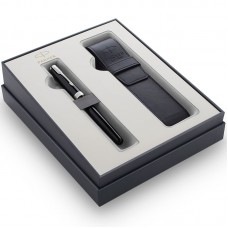 Подарочный набор Parker (Паркер) Sonnet Black CT из перьевой ручки и чехла