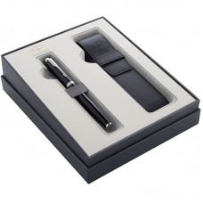 Подарочный набор Parker (Паркер) IM Core Black CT из перьевой ручки и чехла