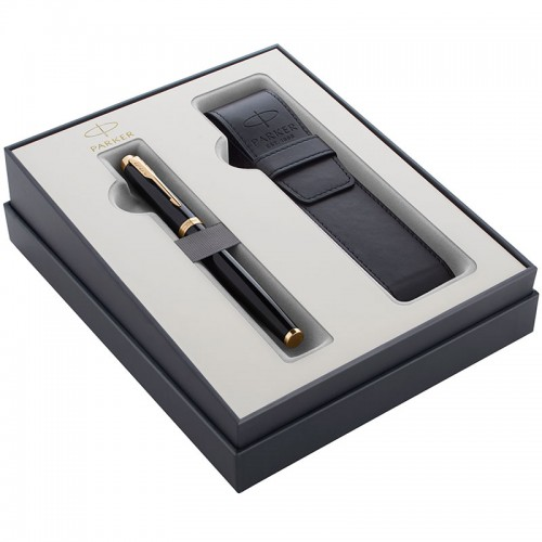 Подарочный набор Parker (Паркер) IM Core Black GT из перьевой ручки и чехла