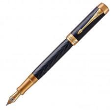 Перьевая ручка Parker (Паркер) Duofold Prestige Centennial Blue Chevron GT F