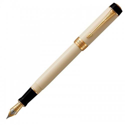 Перьевая ручка Parker (Паркер) Duofold Centennial Classic Ivory & Black GT F