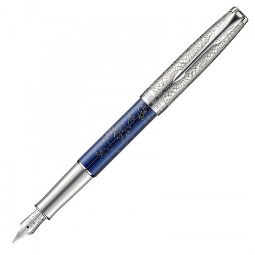 Перьевая ручка Parker (Паркер) Sonnet Special Edition Atlas Silver Blue CT F