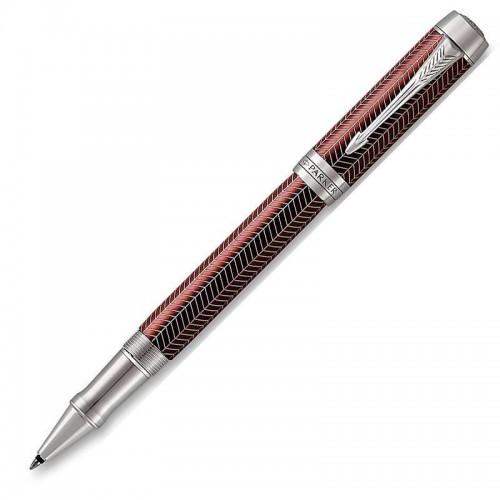 Ручка-роллер Parker (Паркер) Duofold Prestige Burgundy Chevron CT